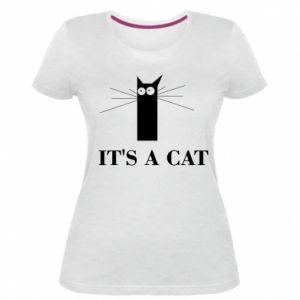 Damska premium koszulka It's a cat