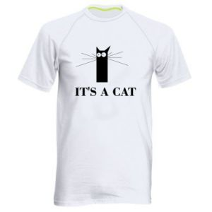 Men's sports t-shirt It's a cat