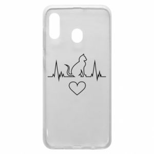 Phone case for Samsung A20 Cat