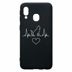 Phone case for Samsung A40 Cat