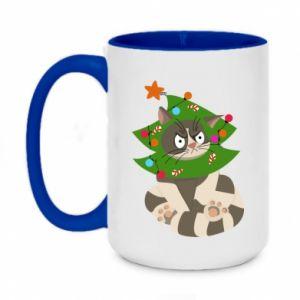 Two-toned mug 450ml Cat