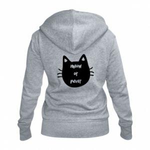 Women's zip up hoodies Meow or never