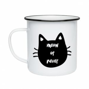 Enameled mug Meow or never