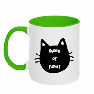 Kubek dwukolorowy Meow or never - PrintSalon