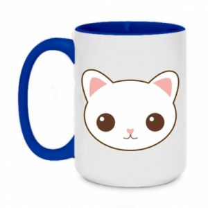 Two-toned mug 450ml Kitty.