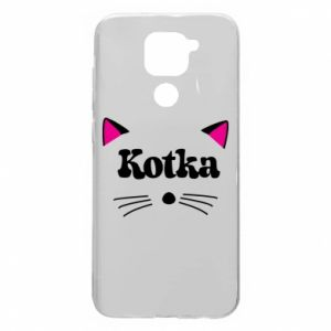 Xiaomi Redmi Note 9 / Redmi 10X case % print% Cat with pink ears