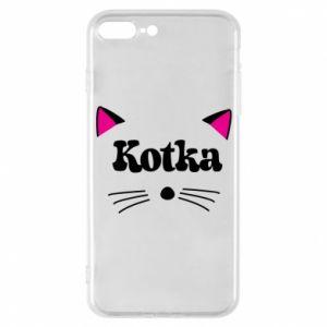 Etui do iPhone 7 Plus Kotka z różowymi uszkami