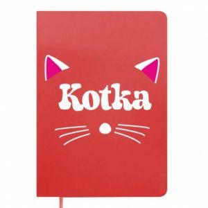 Notes Kotka z różowymi uszkami