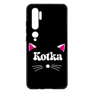 Etui na Xiaomi Mi Note 10 Kotka z różowymi uszkami