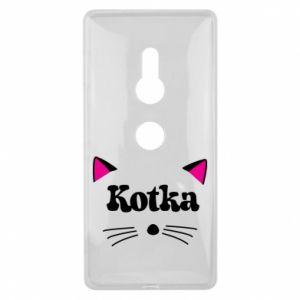 Etui na Sony Xperia XZ2 Kotka z różowymi uszkami