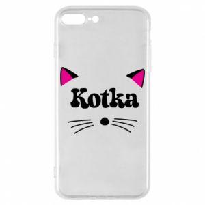 Etui na iPhone 8 Plus Kotka z różowymi uszkami
