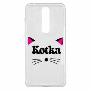 Etui na Nokia 5.1 Plus Kotka z różowymi uszkami
