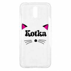 Etui na Nokia 2.3 Kotka z różowymi uszkami