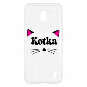 Etui na Nokia 2.2 Kotka z różowymi uszkami