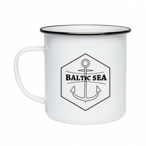 Enameled mug Baltic Sea