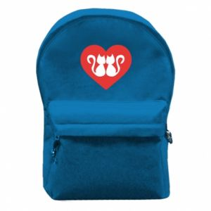 Backpack with front pocket Cats in the heart