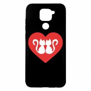 Xiaomi Redmi Note 9 / Redmi 10X case % print% Cats in the heart