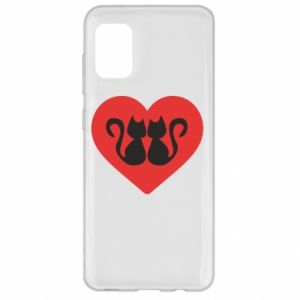 Samsung A31 Case Cats in the heart