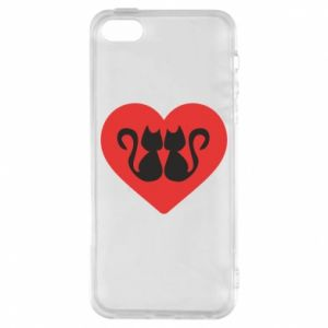 Etui na iPhone 5/5S/SE Koty w sercu