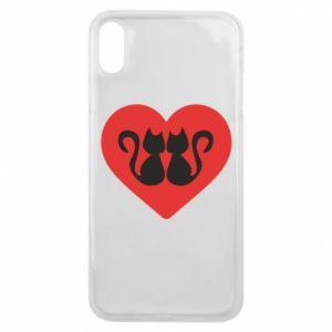 Etui na iPhone Xs Max Koty w sercu