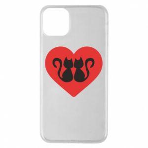 Etui na iPhone 11 Pro Max Koty w sercu