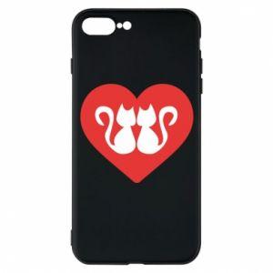 Etui do iPhone 7 Plus Koty w sercu