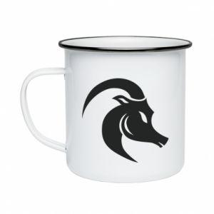 Enameled mug Capricorn