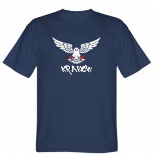 T-shirt Krakow eagle black ang red