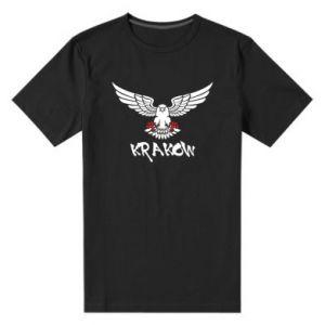 Męska premium koszulka Krakow eagle black ang red