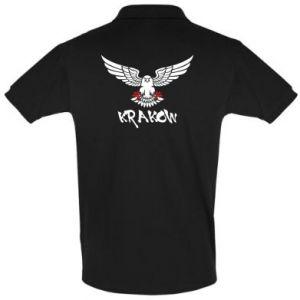 Koszulka Polo Krakow eagle black ang red