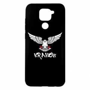 Etui na Xiaomi Redmi Note 9/Redmi 10X Krakow eagle black ang red