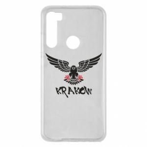 Etui na Xiaomi Redmi Note 8 Krakow eagle black ang red