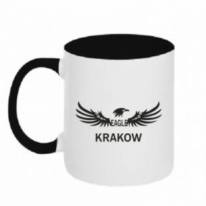 Kubek dwukolorowy Krakow eagle black or white