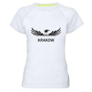 Damska koszulka sportowa Krakow eagle black or white