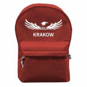 Plecak z przednią kieszenią Krakow eagle black or white