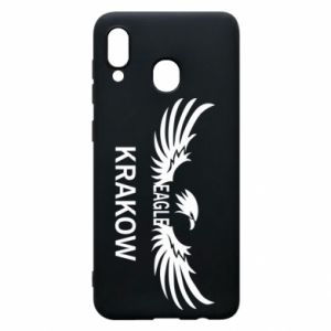 Etui na Samsung A20 Krakow eagle black or white