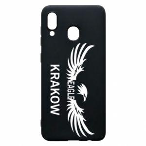 Etui na Samsung A30 Krakow eagle black or white