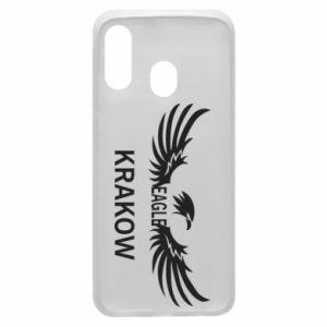 Etui na Samsung A40 Krakow eagle black or white