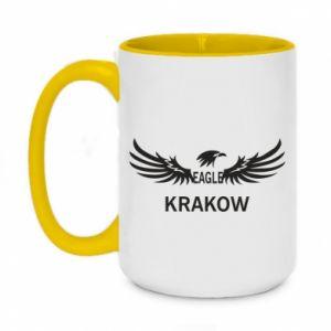 Kubek dwukolorowy 450ml Krakow eagle black or white