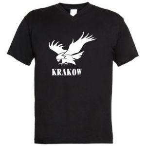 Męska koszulka V-neck Krakow eagle