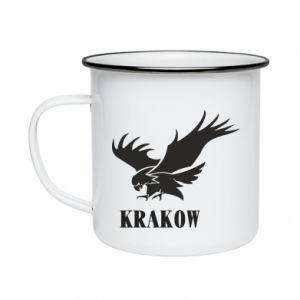 Kubek emaliowany Krakow eagle