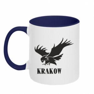 Two-toned mug Krakow eagle