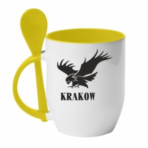 Kubek z ceramiczną łyżeczką Krakow eagle