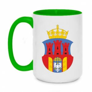 Two-toned mug 450ml Krakow coat of arms