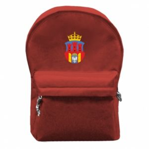 Backpack with front pocket Krakow coat of arms
