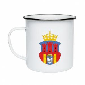 Enameled mug Krakow coat of arms