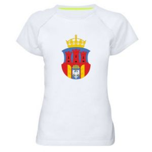 Women's sports t-shirt Krakow coat of arms