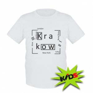 Kids T-shirt Krakow and other cities