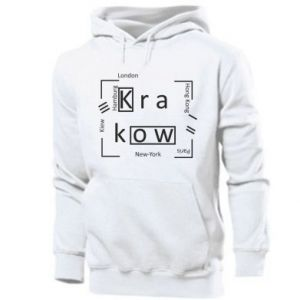 Men's hoodie Krakow and other cities