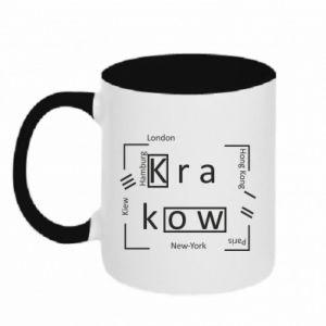 Kubek dwukolorowy Kraków i inne miasta